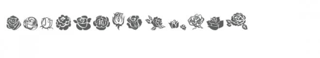 cg rose buds dingbats Font UPPERCASE