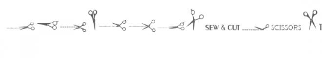 cg scissors dingbats Font UPPERCASE