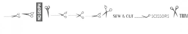 cg scissors dingbats Font LOWERCASE
