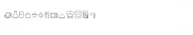 cg time to eat dingbats Font LOWERCASE