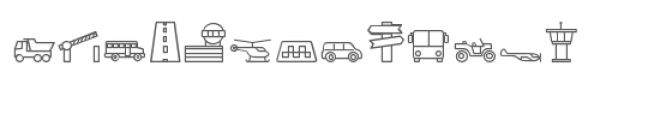 cg traffic dingbats Font UPPERCASE