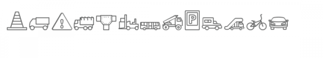 cg traffic dingbats Font LOWERCASE