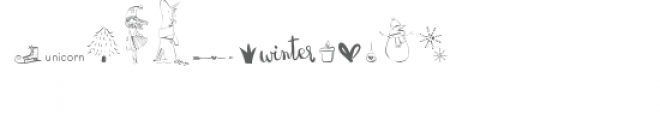 cg unicorn winter dingbats Font LOWERCASE