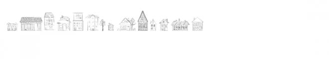 cg vintage buildings dingbats Font UPPERCASE