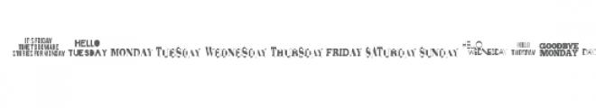 cg weekdays dingbats Font UPPERCASE