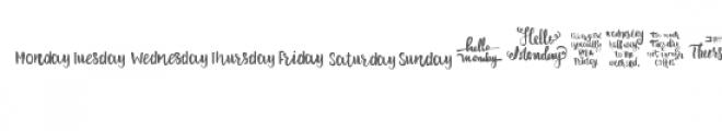 cg weekdays dingbats Font LOWERCASE