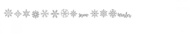 cg winter snowflakes dingbats Font UPPERCASE