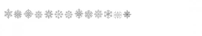 cg winter snowflakes dingbats Font LOWERCASE