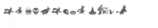 cg witches and more dingbats Font UPPERCASE