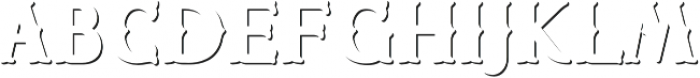 CHESTER Shadow outline otf (400) Font LOWERCASE