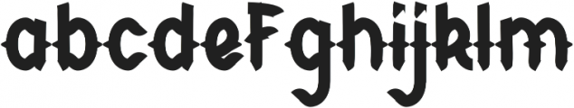 CHILD OF THE GRAVE Bold otf (700) Font LOWERCASE