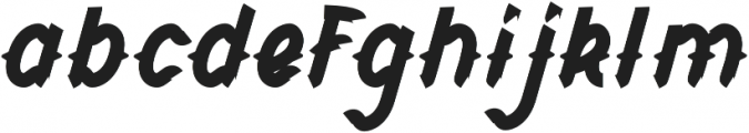 CHILD OF THE GRAVE Boldital otf (700) Font LOWERCASE