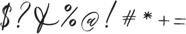 Chalisto Script Regular otf (400) Font OTHER CHARS