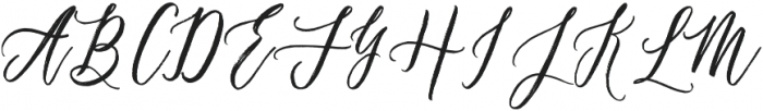 Chalisto Script Regular otf (400) Font UPPERCASE