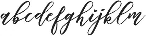 Chalisto Script Regular otf (400) Font LOWERCASE