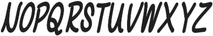 Chalk It Up Condensed Italic otf (400) Font UPPERCASE