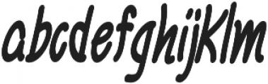 Chalk It Up Condensed Italic otf (400) Font LOWERCASE