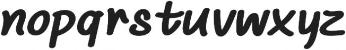Chalk It Up Expanded Italic otf (400) Font LOWERCASE