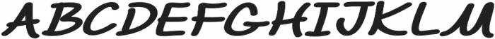 Chalk It Up Extra-expanded Italic otf (400) Font UPPERCASE