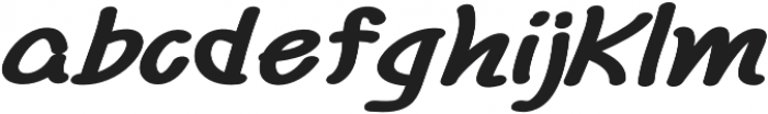 Chalk It Up Extra-expanded Italic otf (400) Font LOWERCASE