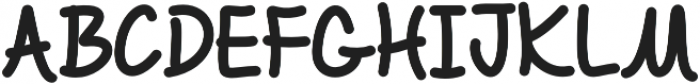 Chalk It Up Regular otf (400) Font UPPERCASE