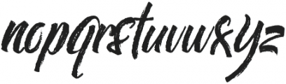 Chalker otf (400) Font LOWERCASE