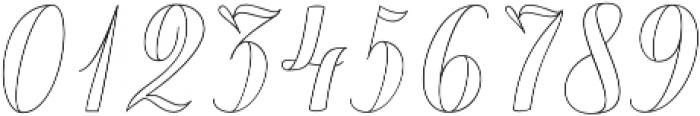 Chameleon Outline1 otf (400) Font OTHER CHARS