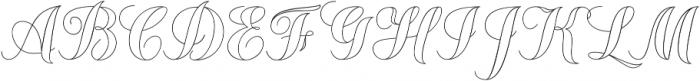 Chameleon Outline1 otf (400) Font UPPERCASE