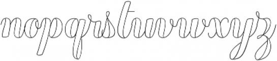 Chameleon Outline1 otf (400) Font LOWERCASE