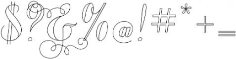 Chameleon Outline2 otf (400) Font OTHER CHARS
