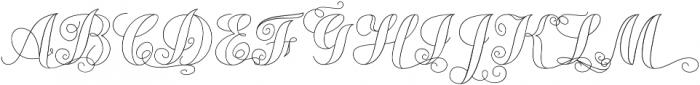 Chameleon Outline2 otf (400) Font UPPERCASE