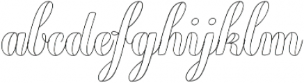 Chameleon Outline2 otf (400) Font LOWERCASE