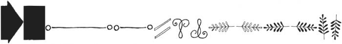 Chameleon Sketch Extra otf (400) Font UPPERCASE