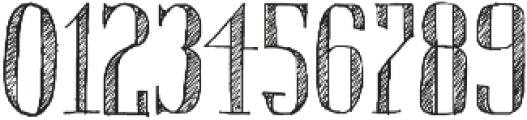 Chameleon Sketch Hatch otf (400) Font OTHER CHARS