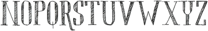 Chameleon Sketch Hatch otf (400) Font UPPERCASE