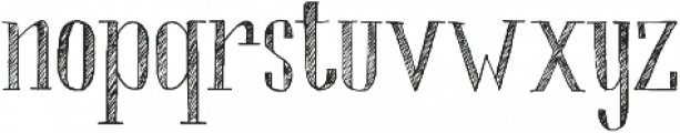 Chameleon Sketch Hatch otf (400) Font LOWERCASE