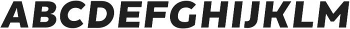 Chamfort Family Black Italic otf (900) Font UPPERCASE