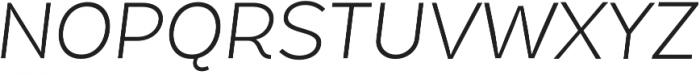 Chamfort Family Light Italic otf (300) Font UPPERCASE