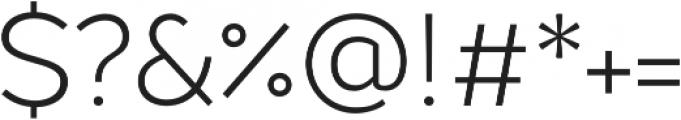Chamfort Family Light otf (300) Font OTHER CHARS