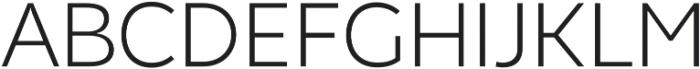 Chamfort Family Light otf (300) Font UPPERCASE