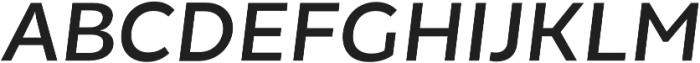 Chamfort Family Medium Italic otf (500) Font UPPERCASE