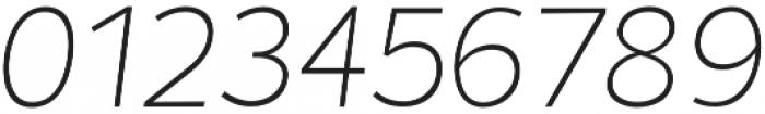 Chamfort Family Thin Italic otf (100) Font OTHER CHARS