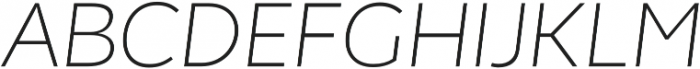 Chamfort Family Thin Italic otf (100) Font UPPERCASE