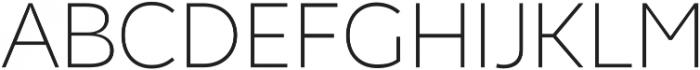 Chamfort Family Thin otf (100) Font UPPERCASE