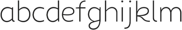 Chamfort Family Thin otf (100) Font LOWERCASE