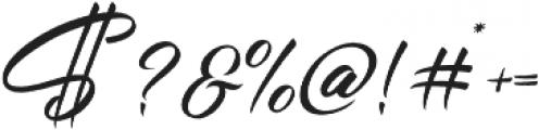 Chandelier Script Regular otf (400) Font OTHER CHARS