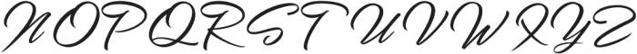 Chandelier Script Regular otf (400) Font UPPERCASE