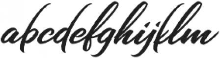 Chandelier Script Regular otf (400) Font LOWERCASE