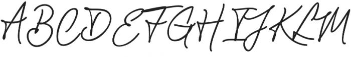 Chandelier Signature Regular otf (400) Font UPPERCASE