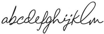 Chandelier Signature Regular otf (400) Font LOWERCASE